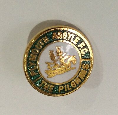 PLYMOUTH ARGYLE Football Club Badge FC ENAMEL SMALL OLD VINTAGE Pin 2 XMAS GIFT.