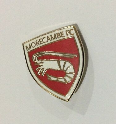 MORECAMBE Football Club Badge FC ENAMEL PIN. SHRIMPERS CHRISTMAS PRESENT GIFT