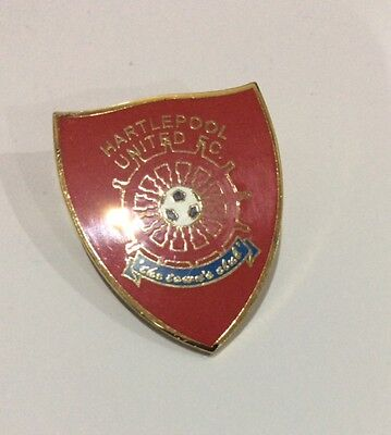 HARTLEPOOL UNITED Football Club Badge FC UTD RED PIN CHRISTMAS PRESENT GIFT 2