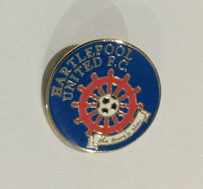 HARTLEPOOL UNITED Football Club Badge FC UTD ROUND PIN CHRISTMAS PRESENT GIFT