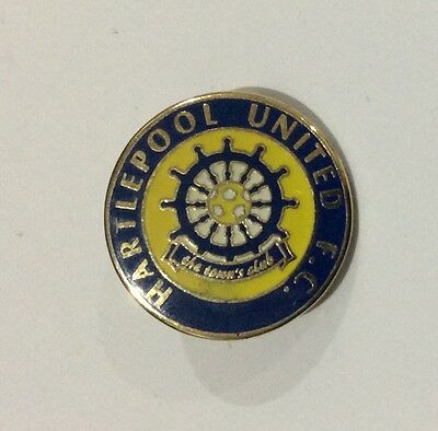 HARTLEPOOL UNITED Football Club Badge FC UTD ROUND PIN. CHRISTMAS PRESENT GIFT