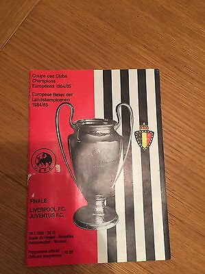European Cup Final Programme. Liverpool V Juventus