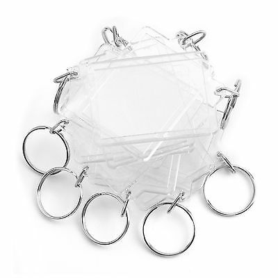 5pc Clear Blank Acrylic Photo Keyring Insert Personalise - Plastic 35 x 24mm