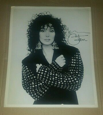 CHER Signed Autograph Photo A4 Print from 1987 Uninhibted perfume promotion