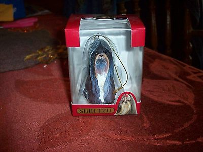 Christmas Shih Tzu Ornament     3 inches     New in box