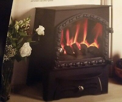 KIRKDALE. cast iron gas stove fire/wood burner.. USED. VGC