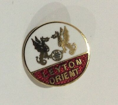OLD LEYTON ORIENT Football Club Badge FC ENAMEL VINTAGE PIN CHRISTMAS PRESENT