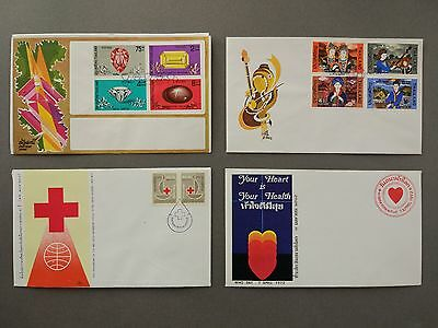 Thailand Stamps  4 Fdc 1972
