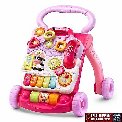 Sit To Stand Learning Walker Developmental Baby Toys VTech Pink
