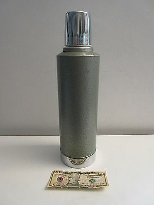 Vintage Aladdin Stanley Thermos A-9458 2 Quart Unbreakable Stainless Nice!!