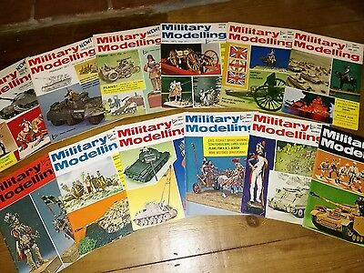 Military Modelling Magazine 1971 complete 12 issues including 1st issue