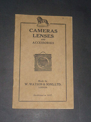 Camera Lenses and Accessories: Photography / Watsons Photographic Cameras / 1900