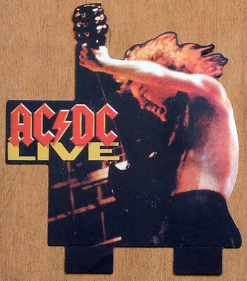 Ac/dc Repro 1992 Angus Young Ac/dc Live Promo Paper Standee