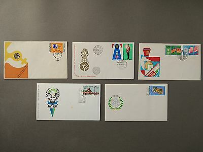 Thailand Stamps  5 Fdc 1975