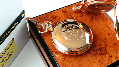 JOHNNY CASH signed Rose Gold clad Autographed  POCKET WATCH LUXURY  Lux Case