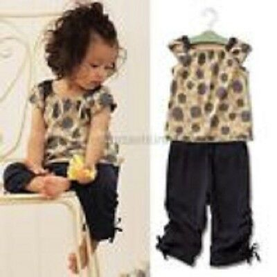 Girls Casual/Smart 2 Piece Outfit Top/Trousers Spring/Summer Wear Age1-4Yrs