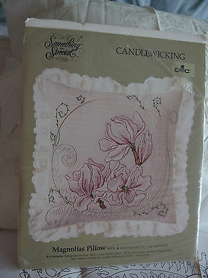embroidery kit for cushion pillow Magnolias design