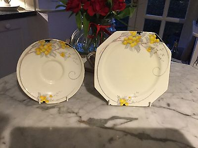 Vintage Paragon Side Plate and Saucer Pattern G1645