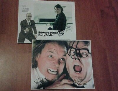 Bottom Signed Pictures. Set Of 2. Bbc Comedy. Rik Mayall. Ade Edmondson.