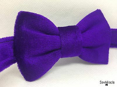 Velvet Bow Tie* Sizes 0-10* Purple Velvet Handmade Bow tie