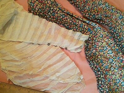 Liberty of London antique dress pieces lace fabric buttons social history items