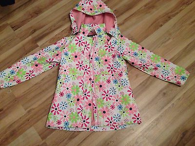 Girls Tresspass Floral Waterproof And Wind Proof Jacket Age 7-8 Years