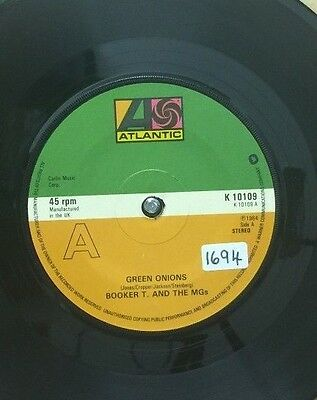 "BOOKER T & The MGs-Green Onions-7"" Vinyl 45rpm Record-Atlantic-K 1-0109-1979"