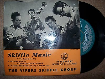 the vipers skiffle group - skiffle music e.p...parlophone 45