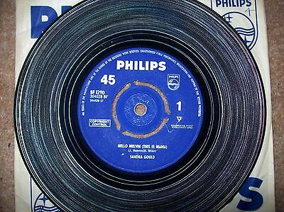 sandra gould - hello melvin(this is mama)-my son the surfer..1963 philips 45