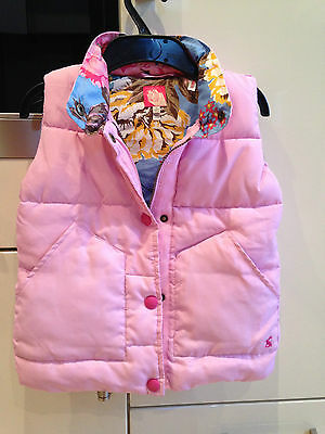 Girls pink gilet from Joules size 7 years height 122cm