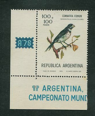 Soccer World Cup Argentina Mnt Mnh Variety Print On Gum Side Bird Football 1978