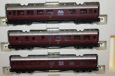 Hornby Made In China Rake Of 3 Lms Coaches Ex R2887M Train Pack