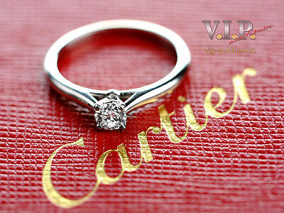 CARTIER 1895 SOLITAIRE RING 950 PLATIN 0,22ct DIAMANT BRILLANT PLATINUM DIAMOND