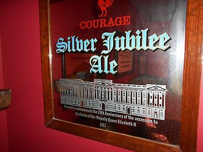 "Framed COURAGE SILVER JUBILEE ALE Mirror Original 20"" X 20"". Very Collectable."