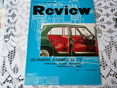 Vintage Triumph Car magazine May1966 Cover inside 1300 Various articles adverts