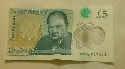 New Five Pound Note   Am18!