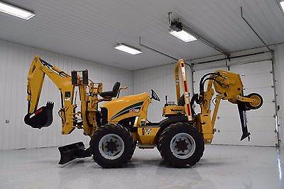 2012 Vermeer RTX750 Vibratory Cable Plow Backhoe 4X4X4  Ditch Witch RT55 RT80
