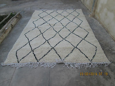 NEW Handmade Beni Ourain traditional Moroccan ivory rug 3m x 2m 300cm x 200cm