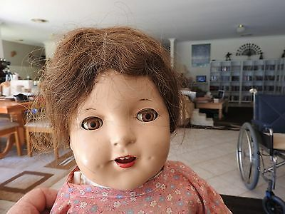 """Antique Composition Girl Doll, 26""""  Approx 1922"""