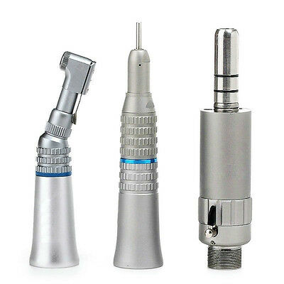 NSK E-Type Dental Slow Low Speed Straight Handpiece Kit Contra Angle Air Motor