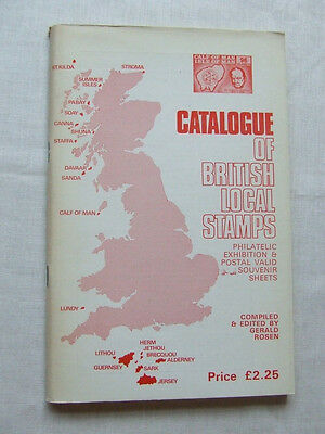 CATALOGUE OF BRITISH LOCAL STAMPS by G ROSEN