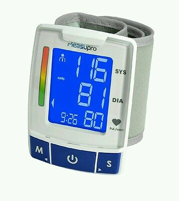 MeasuPro EasyRead Automatic Digital Wrist Blood Pressure Monitor with Heart Rat