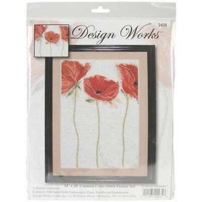 """""""Flamenco Poppies"""" Counted Cross Stitch Kit"""