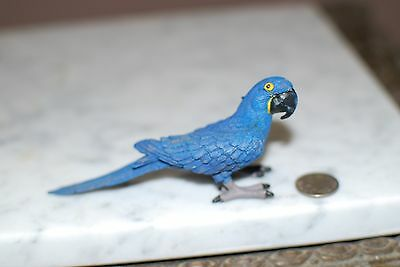 Blue Hyacinth Macaw Parrot Miniature Collectible figurine