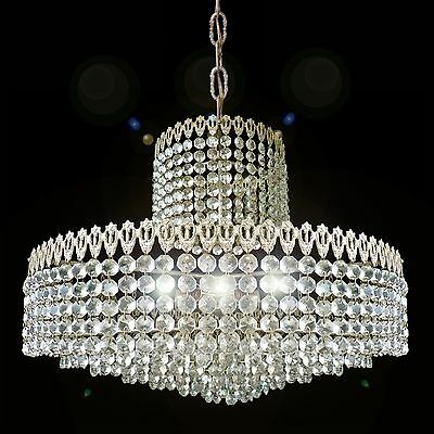 Elegant Large 8 Tier Crystal Beads Wedding Cake Bakalowits Era Chrome Chandelier
