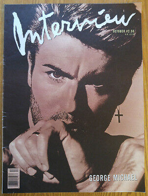 Andy Warhol's Interview Magazine October 1988 George Michael Cover