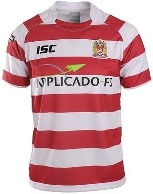 "WIGAN WARRIORS RUGBY LEAGUE SHIRT SIZE AGE 10  34"" chest"