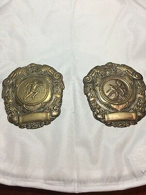 Pair Of RAF Athletic Plaques Shields