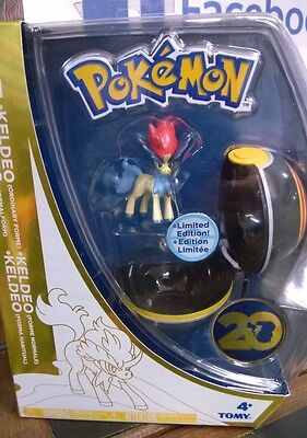 Pokemon Tomy Keldeo Figure & Poke Ball Clip On 20th Anniversary Ltd Edition