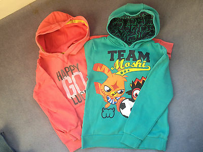 2 x Next and Moshi Monster Girls Hoodies  - Age 9 - VGC